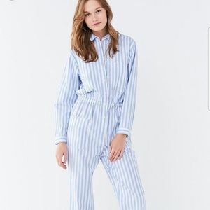 Urban Outfitters blue and white stripe jumpsuit!